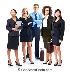 Business team. - Group of business people. Business team.
