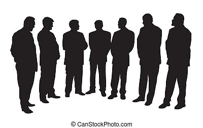 Group of business people - Group of seven businessmen. ...