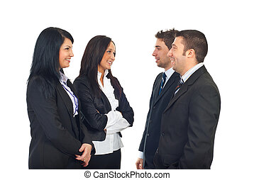 Group of business people having conversation
