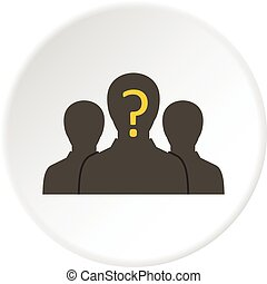 Group of business people icon circle