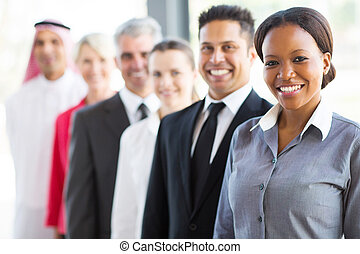 group of business people in a row - group of modern business...