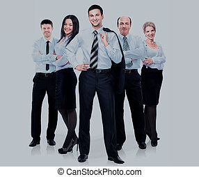 group of business people in a white shirt isolated on white background