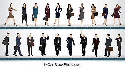 Group of business people in business suits