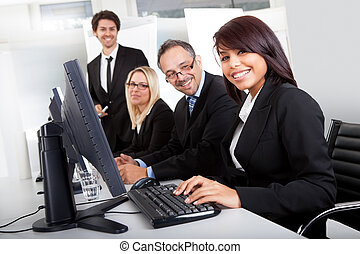 Group of business people in the office