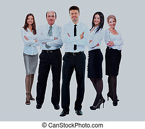 group of business people in white shirts.