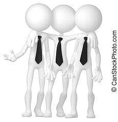 Group of business people interacting at meeting - Group of...
