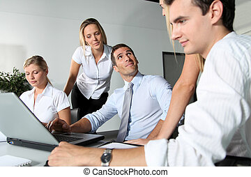 Group of business people meeting in the office