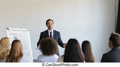 Group Of Business People On Presentation In Conference Hall...