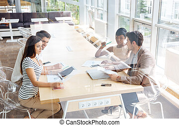 Group of business people on the meeting in conference room