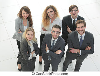group of business people. Over white background