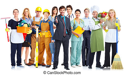 Group of business people. - Group of business people...