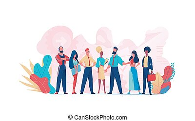 Group of business people teamwork. Business team - Group of ...