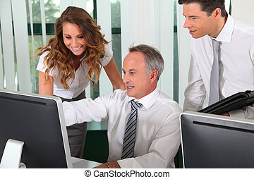 Group of business people working in the office
