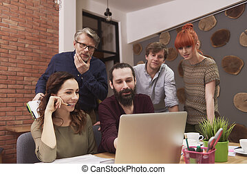 Group of business team working