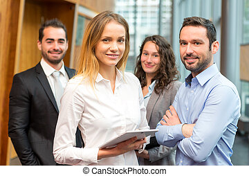 Group of business workers