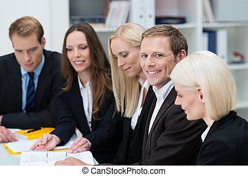 Group of businesspeople in a meeting