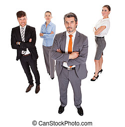 Group Of Businesspeople Over White Background