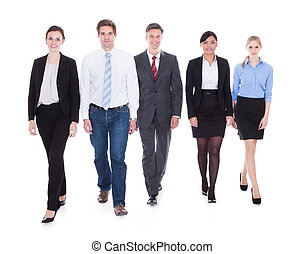 Group Of Businesspeople Walking