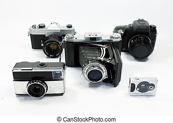 Group of cameras from different generations