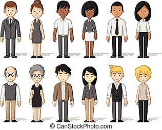 cartoon business people