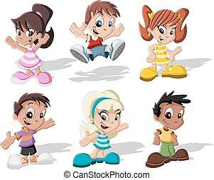 Group of cartoon children