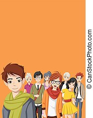 Manga anime teenagers.
