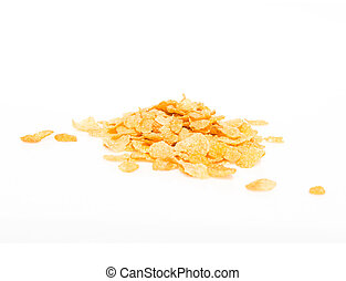 Group of cereals isolated over white background