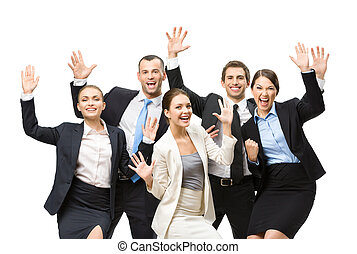 Group of cheerful executives