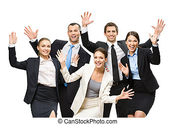 Group of cheerful managers