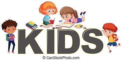 Group of children reading