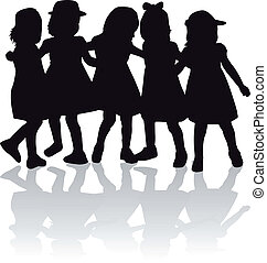 group of children's silhouettes