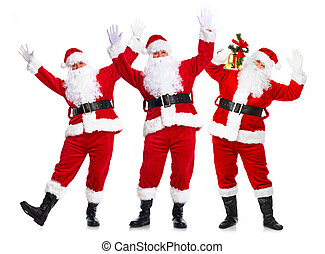 Group of Christmas Santa Claus.