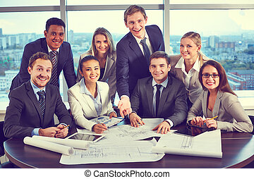 Group of co-workers