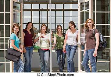 Group of college Girls