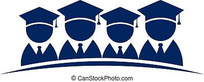 Group of College Graduates .Vector design