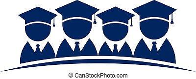 Group of College Graduates .Vector design