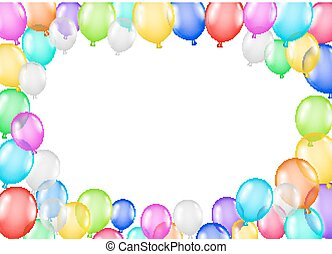 group of colorful balloons on a white background