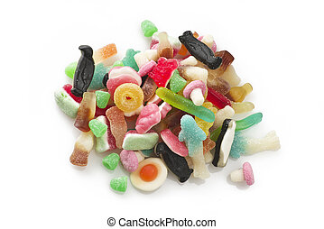 group of colorful candy