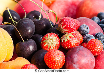 group of colorful fruits