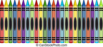Group of Colorful Large Crayons - Group of 24 colorful...