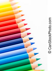 Group of Colour pencils isolated on white