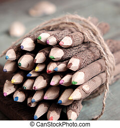 coloured pencil, colouful crayon - Group of coloured pencil...