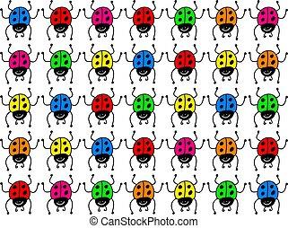 colourful ladybugs