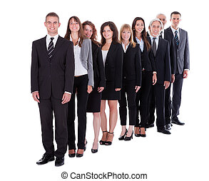 Group of confident business people