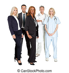 Group of confident working people