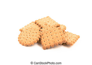 Group of cookies isolated on white background