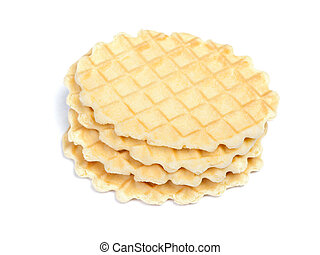 Group of crisp waffles
