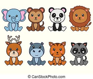 group of cute animals
