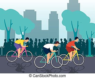 group of cyclists in championship