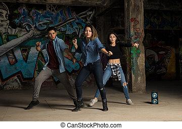 Group of dancers performing